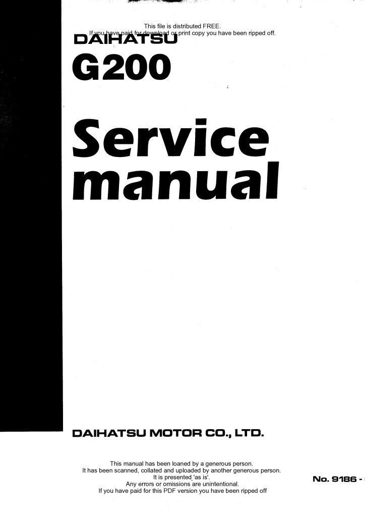 Daihatsu cuore Werkstatthandbuch Workshop Manuell