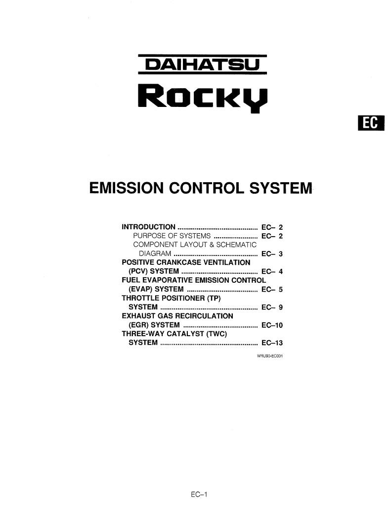 92rocky Ec Emission Control System Pdf  1 07 Mb