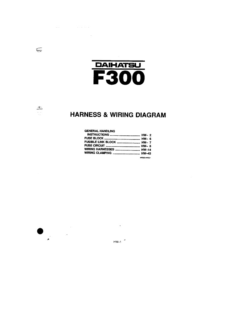 F300 Hw Harness And Wiring Diagram Pdf  1 19 Mb